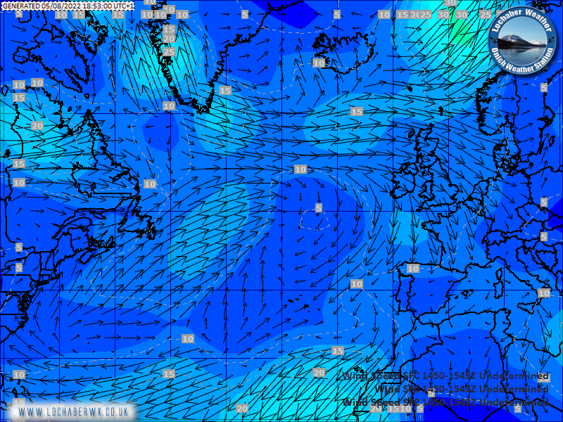 Atlantic Surface Wind Chart